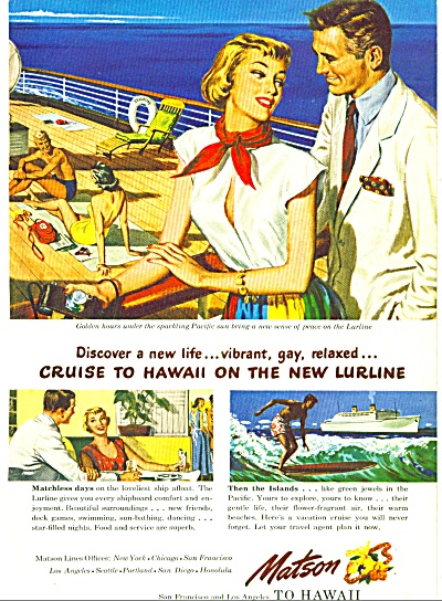 1949 - Matson lines to Hawaii ad (Image1)