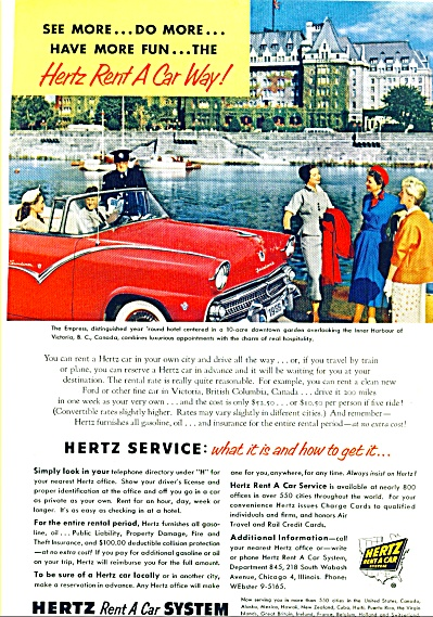 1955 - Hertz Rent a car system ad (Image1)