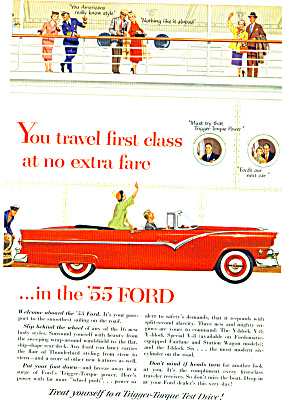 1955 - The 1955 Ford automobile ad (Image1)