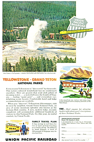 1955 - Union Pacific Railroad Ad