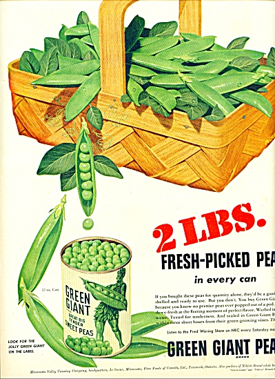 1950 -  Green Giant peas ad (Image1)