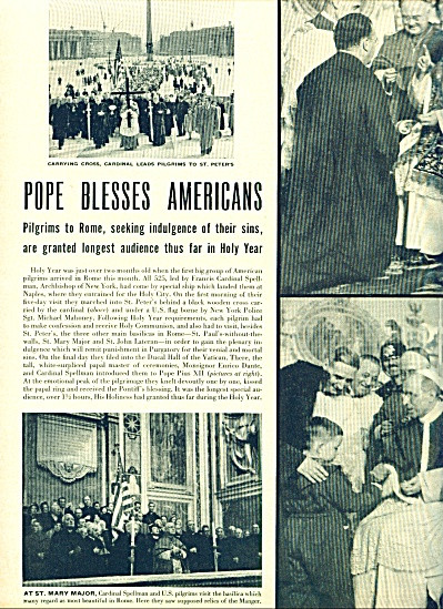1950 -  POPE  blesses Americans in Rome (Image1)