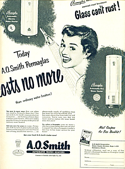 1951 - A. O. Smith water heaters ad (Image1)