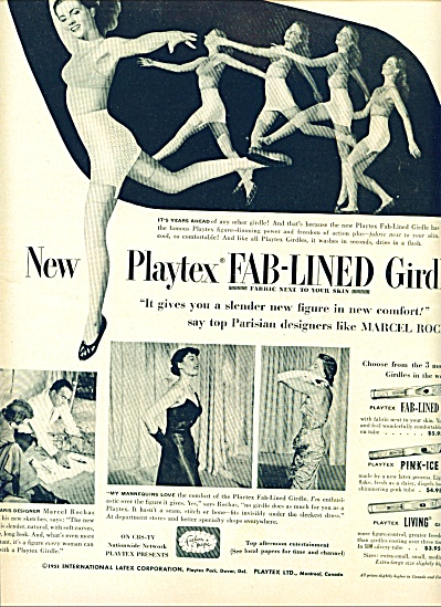 1951- Playtex fab lined girdle ad (Image1)