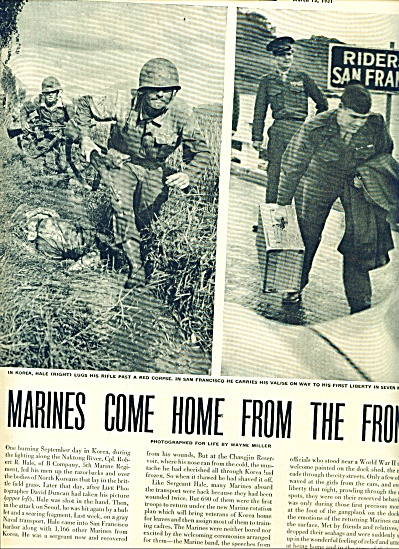 1951 - Marines come home fromthe front (Image1)