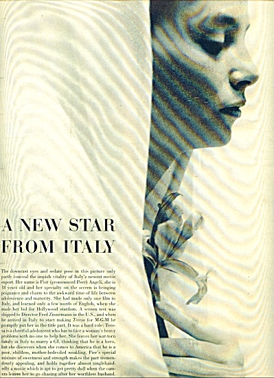 1951 -  A new Star from Italy PIER ANGELI (Image1)