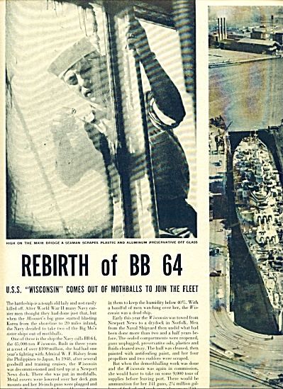 1951 -  Rebirth of the Battleship Wisconsin (Image1)
