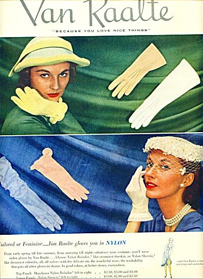 1951 - Van Raalte gloves ad (Image1)