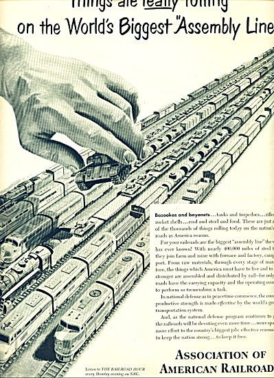 1951 - Association of American Railroads ad (Image1)