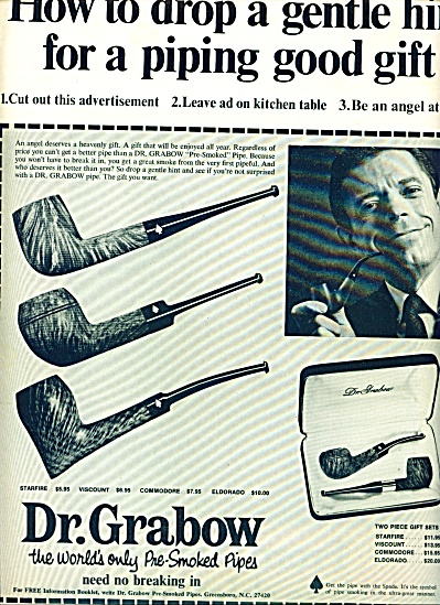 1968 - Dr. Grabow Pre Smoked Pipes Ad