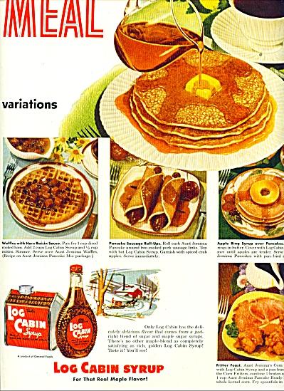 1953 - Log Cabin syrup ad (Image1)