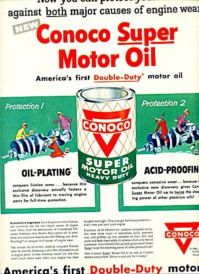 1954 - Conoco motor oil ad (Image1)
