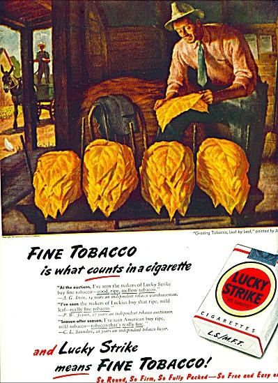 1947 -  Lucky Strike cigarette ad (Image1)