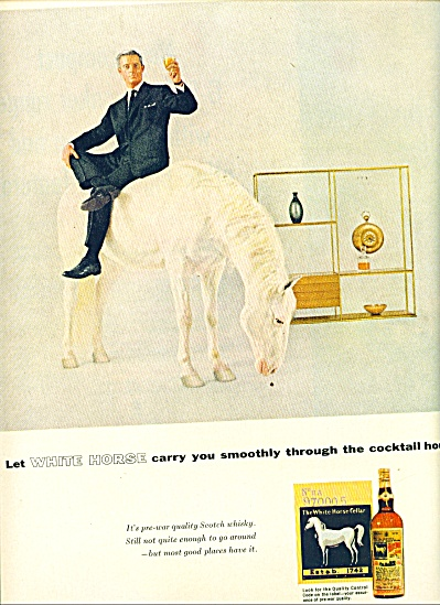 1955 -  White Horse scotch whisky ad (Image1)