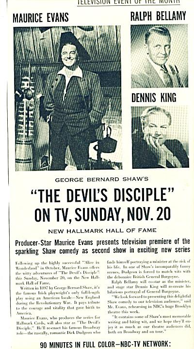 1955 - TV: The Devil's Disciple -RALPH BELLAM (Image1)