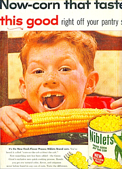 1955 - Niblets Green Giant Corn Ad.