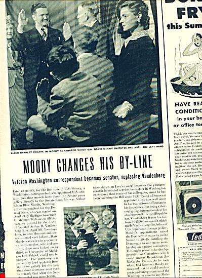 1951 -  Blair Moody new senator from Michigan (Image1)