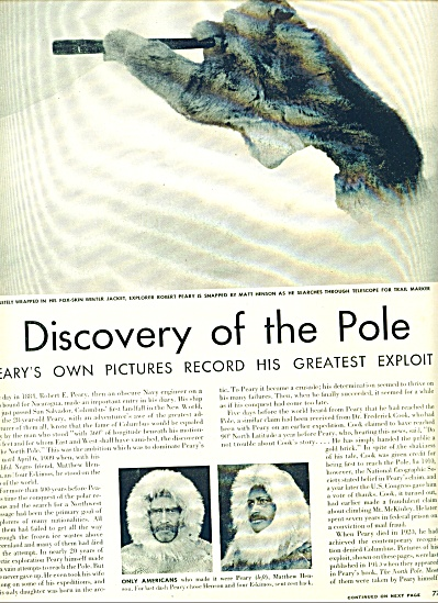 1951 -  Discovery of the Pole - PEARY (Image1)