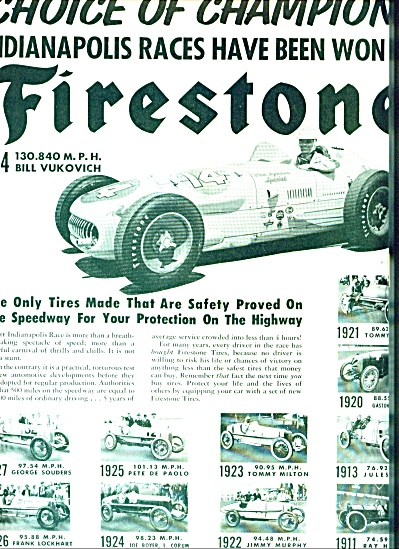 1954 -   Firestone tires - Indy Winners ads (Image1)