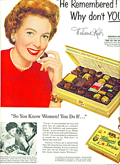 1954 - Whitman's Sampler - Deborah Kerr