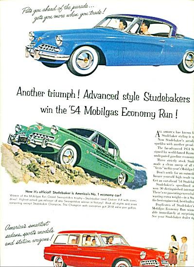 1954 - Studebaker auto win Mobilgas economy (Image1)