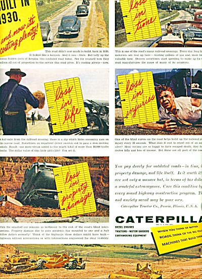 1954 - Caterpillar Machines ad (Image1)