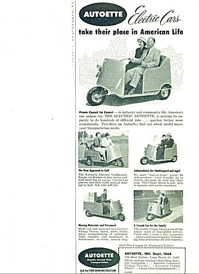 1954 -  Autoette electric cars  ad (Image1)