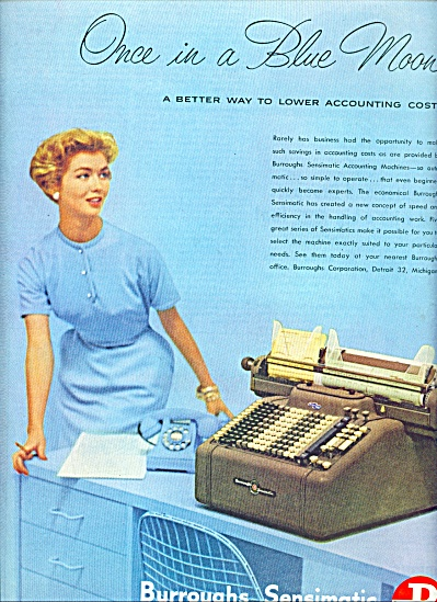 1954 -  Burroughs sensimatic machine ad (Image1)