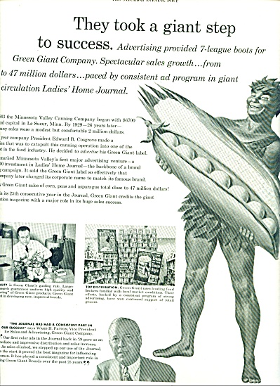 1954 - Advertising Green Giant Company Ad