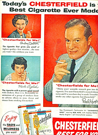 1954 - Chesterfield cigarettes - BOB HOPE (Image1)