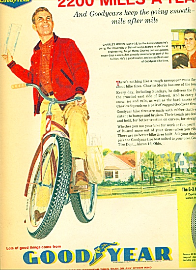 1961 - Goodyear bicycle tires ad (Image1)