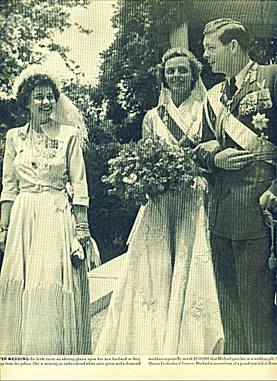 1948 - Marriage of exiled king Michael of Rou (Image1)