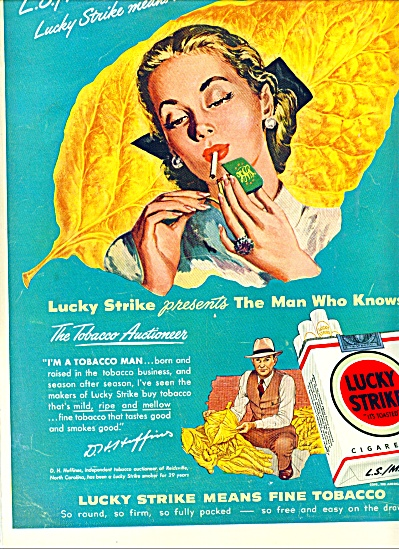 1948 - Lucky Strike cigarettes ad (Image1)