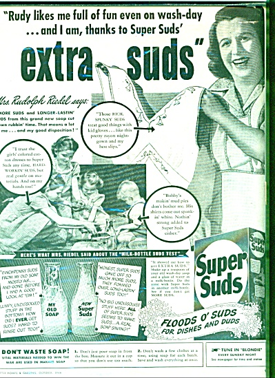 1944 -  Super suds for dishes and duds ad (Image1)