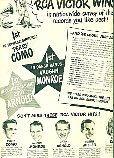 1948 - Rca Victor Records Ad