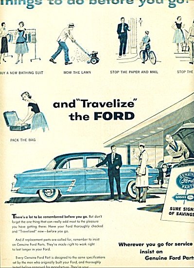 Life 1954 - Ford service ad (Image1)
