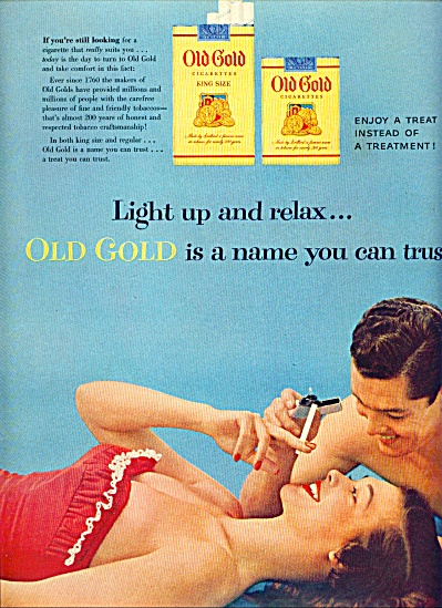 1954 -  Old Gold cigarettes ad (Image1)