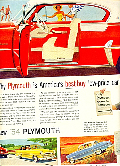 1954  - Plymouth new for 1954 ad (Image1)