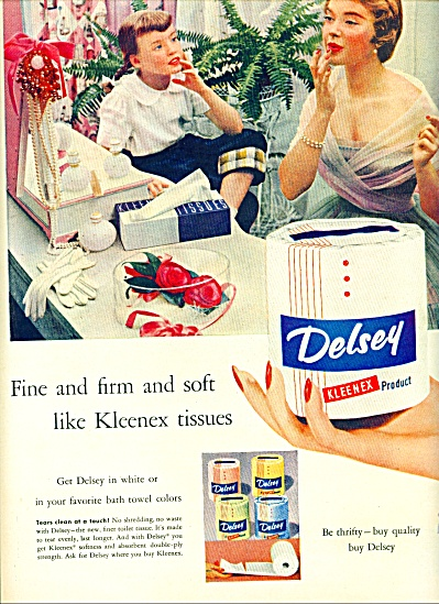 1954 -  Delsey Kleenex product ad (Image1)