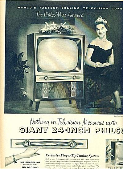 1954 - Philco TV =- MARY ANN MERIWETHER AD (Image1)