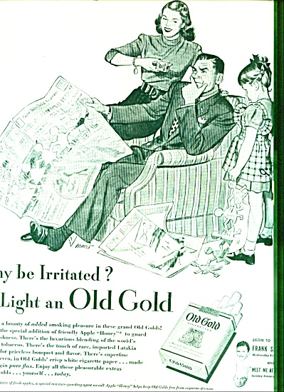 1946 -  Old Gold cigarettes ad (Image1)