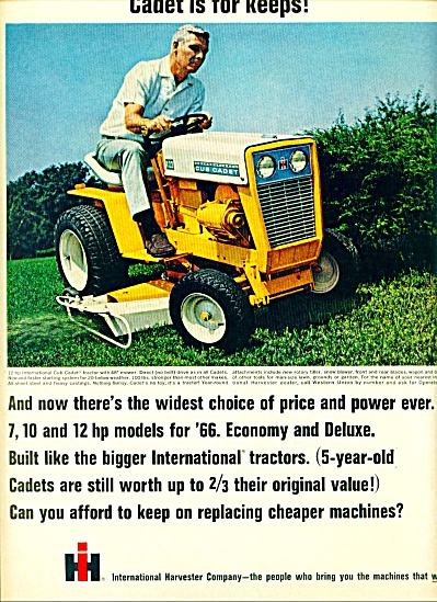 1966 - International Harvester Company Cadet