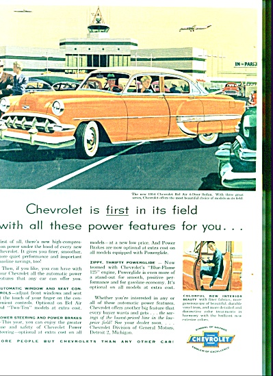 1954 -  Chevrolet Bel air 4 door sedan ad (Image1)