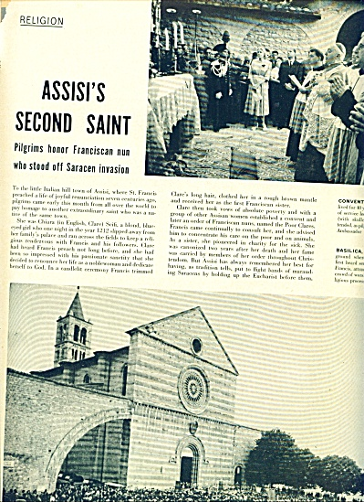 1953 -  Assisi's second saint story (Image1)