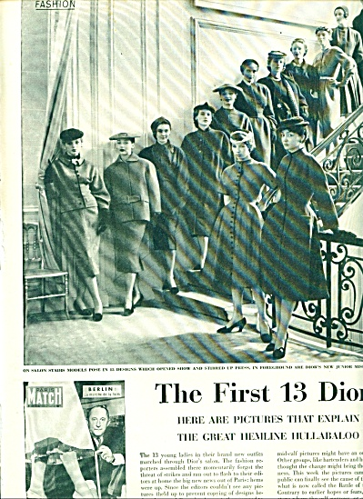 1953 -  The first 13 Diors story in France. (Image1)