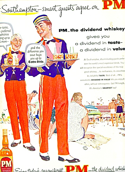1953 - Pm Whiskey Ad