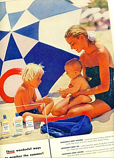 1955 -  Johnson's baby oil, powder ad (Image1)