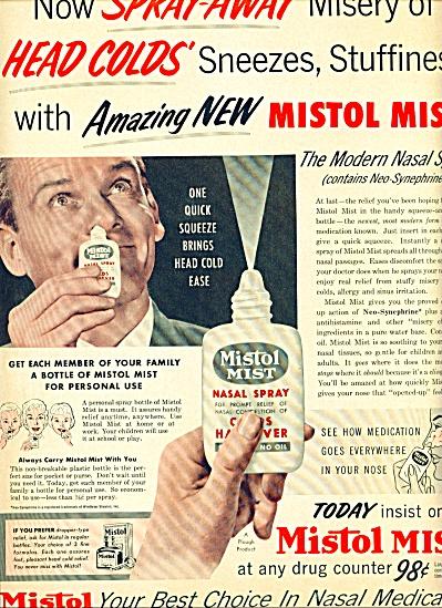 1955 -  Mistol Mist nasal medication ad (Image1)