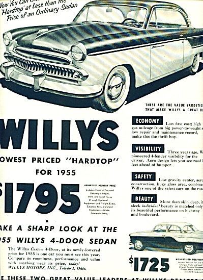 1955 - Willys Automobile Ad