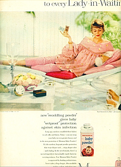 1959 -  Mennen for babies powder, oil ad (Image1)